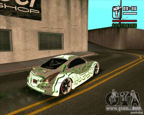 Nissan 350Z Pro Street for GTA San Andreas left view