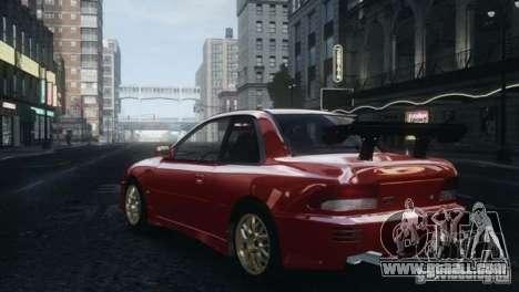 Subaru Impreza 22B 1998 for GTA 4 back left view
