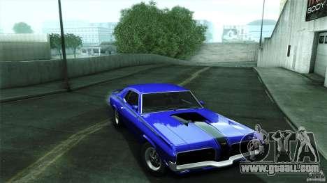 Mercury Cougar Eliminator 1970 for GTA San Andreas back view
