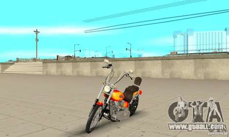 Harley Davidson softail Skin 2 for GTA San Andreas