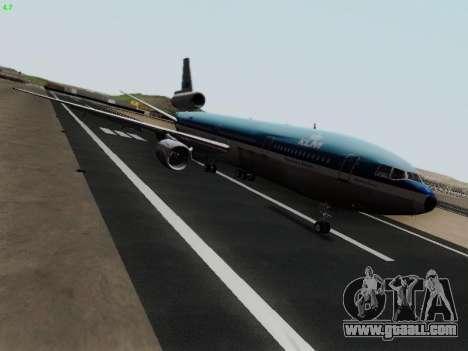 McDonell Douglas DC-10-30 KLM Royal Dutch for GTA San Andreas left view