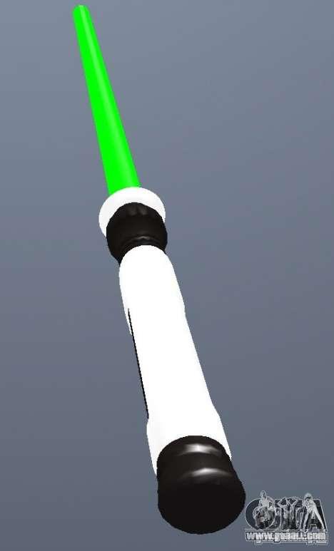 Lightsabre v2 Master(green) for GTA San Andreas second screenshot