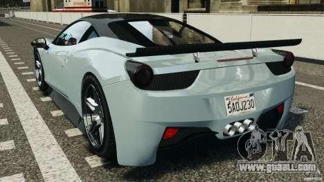 Ferrari 458 Italia 2010 [Key Edition] v1.0 for GTA 4 back left view