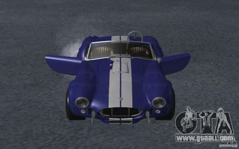 Shelby Cobra 427 for GTA San Andreas inner view