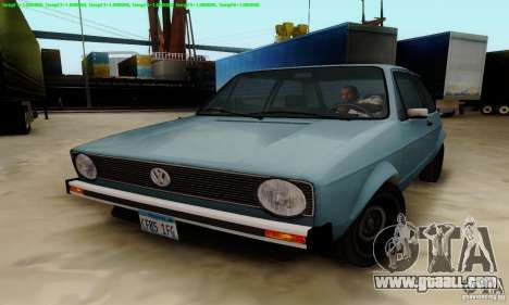 VolksWagen Golf LS for GTA San Andreas right view