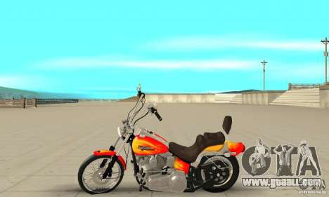Harley Davidson softail Skin 2 for GTA San Andreas left view