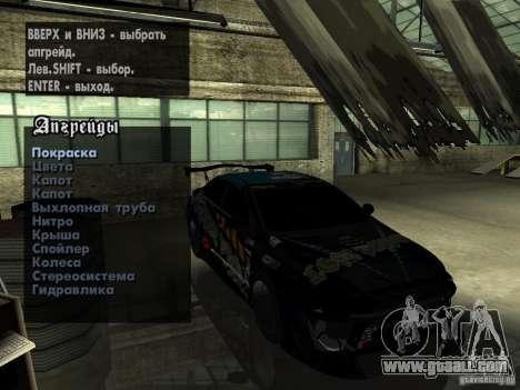 Mitsubishi Lancer Evolution X Drift Spec for GTA San Andreas upper view