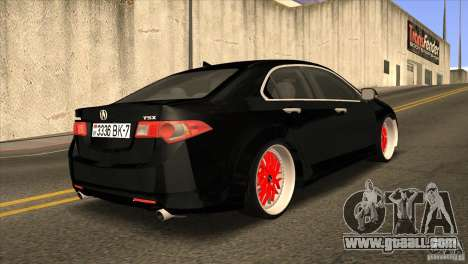 Acura TSX Doxy for GTA San Andreas right view