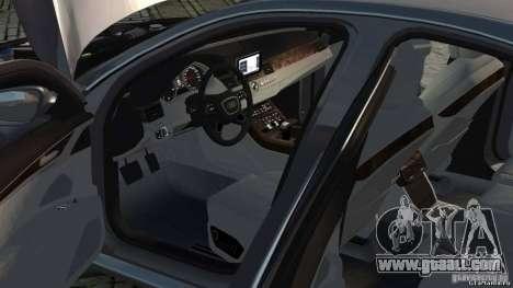 Audi A8 2010 V8 FSI for GTA 4 inner view