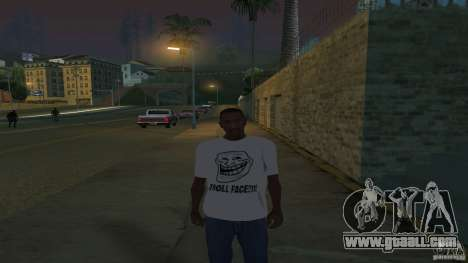 t-shirt is a Troll face for GTA San Andreas