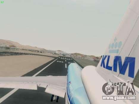 McDonell Douglas DC-10-30 KLM Royal Dutch for GTA San Andreas inner view