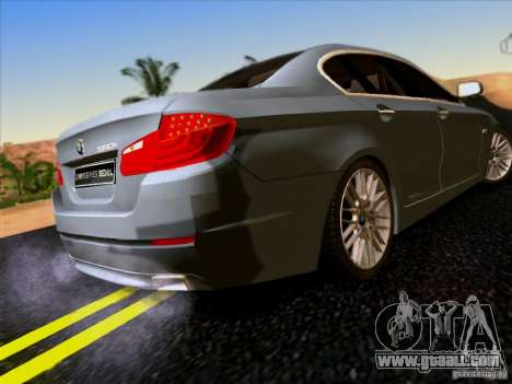 BMW 550i 2012 for GTA San Andreas back view
