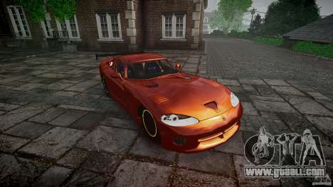Dodge Viper 1996 for GTA 4 back view