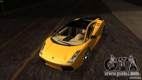 Lamborghini Gallardo SE for GTA San Andreas upper view