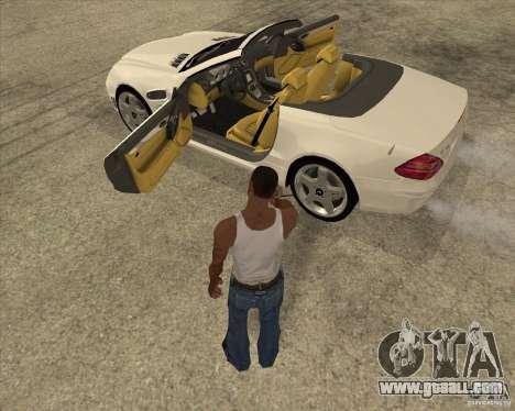 Mercedes Benz AMG SL65 V12 Biturbo for GTA San Andreas inner view