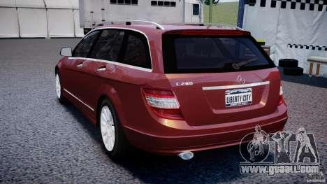 Mercedes-Benz C 280 T-Modell/Estate for GTA 4 back left view