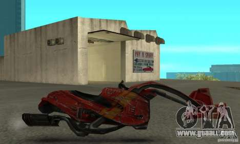 New bike from Star Wars for GTA San Andreas left view