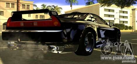 Acura NSX Tuned for GTA San Andreas back view