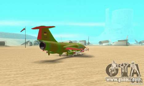 F-104 Starfighter Super (green) for GTA San Andreas left view