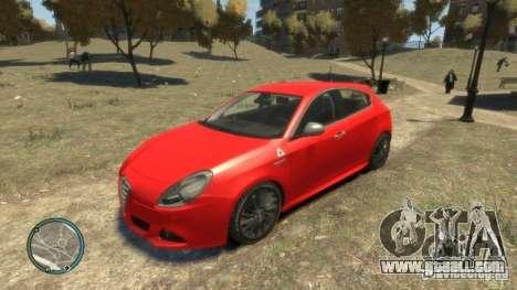 ALFA ROMEO GIULIETTA QUADRIFOGLIO VERDE for GTA 4 right view