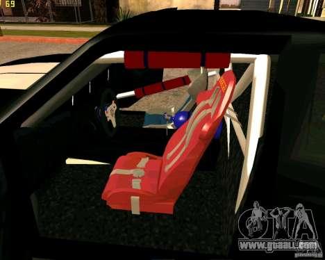 Hotring Racer Tuned for GTA San Andreas interior