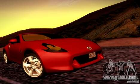 Nissan 370Z V2 for GTA San Andreas right view