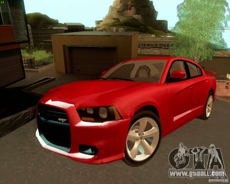 Dodge Charger SRT8 2012 for GTA San Andreas upper view