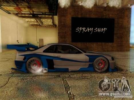 Nissan Skyline GTR34 DTM for GTA San Andreas back left view