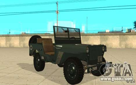Willys MB for GTA San Andreas