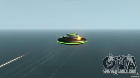 UFO neon ufo green for GTA 4 back view