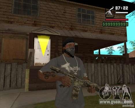 M4A1 Camo for GTA San Andreas second screenshot
