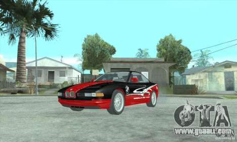 BMW 850i for GTA San Andreas back left view
