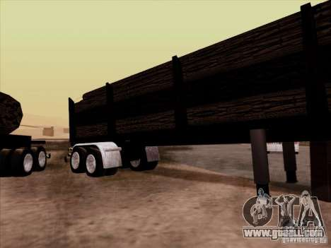 Kenworth K100 Aerodyne trailer for GTA San Andreas back left view