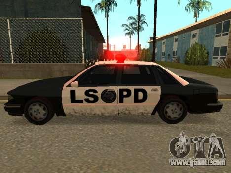 Police Los Santos for GTA San Andreas left view