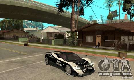 Pagani Zonda F Speed Enforcer BETA for GTA San Andreas back view