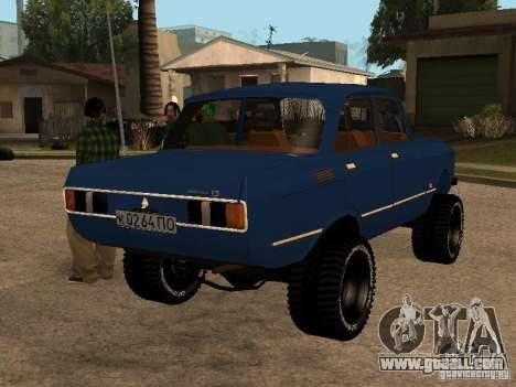 Moskvich 412-4 x 4 for GTA San Andreas back left view