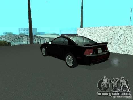 Ford Mustang GT Police for GTA San Andreas left view