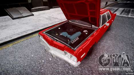 Dodge Monaco 1974 stok rims for GTA 4 upper view