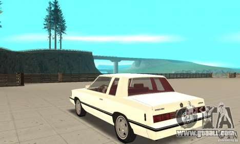 Dodge Aries 1983 for GTA San Andreas back left view