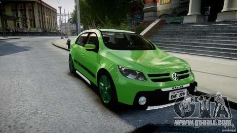 Volkswagen Gol Rallye 2012 v2.0 for GTA 4 back view