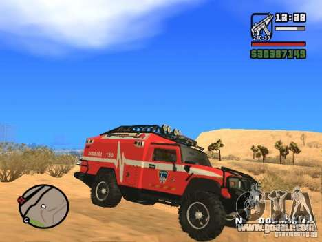 HZS Hummer H2 for GTA San Andreas left view