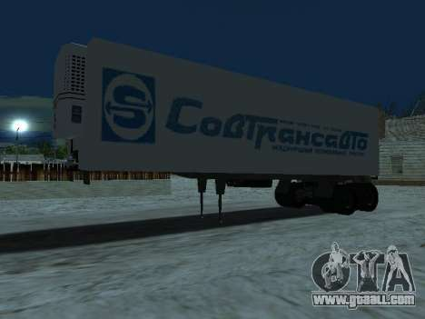 Trailer for Kamaz 5410 for GTA San Andreas left view