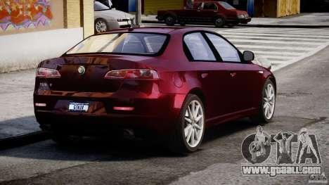 Alfa Romeo 159 Li for GTA 4 back left view