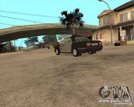 GAZ Volga 3110 Police weekdays for GTA San Andreas left view