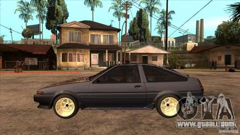 Toyota Corolla AE86 JDM for GTA San Andreas left view