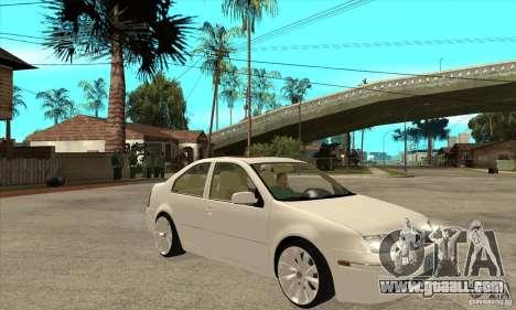 Volkswagen Bora VR6 4MOTION for GTA San Andreas back view
