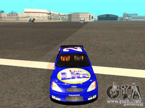 Ford Taurus Nascar LITE for GTA San Andreas back view