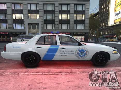 Ford Crown Victoria Homeland Security for GTA 4 back view