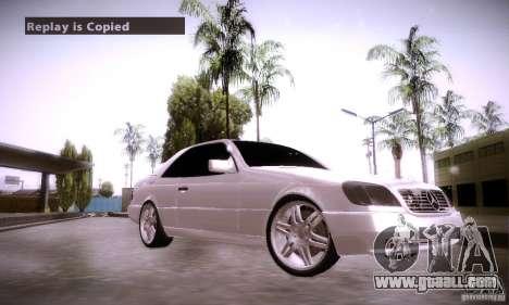 Mercedes-Benz 600SEC for GTA San Andreas right view