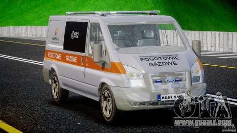 Ford Transit Usluga polski gazu [ELS] for GTA 4 right view